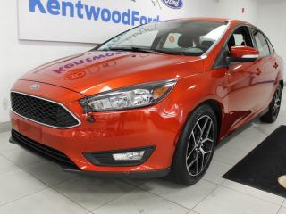 Used 2018 Ford Focus SEL with a sunroof, heated seats, heated steering wheel and a back up cam for sale in Edmonton, AB