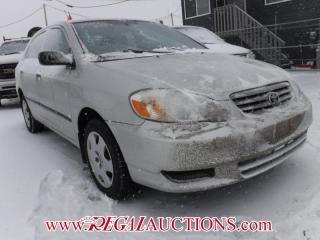 Used 2003 Toyota Corolla CE 4D Sedan for sale in Calgary, AB