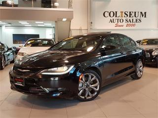 Used 2016 Chrysler 200 S-SPORT-LEATHER-PANO ROOF-ONLY 46KM for sale in York, ON