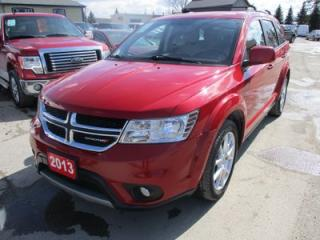 Used 2013 Dodge Journey LOADED CREW EDITION 5 PASSENGER 3.6L - V6.. HEATED SEATS.. HEATED STEERING WHEEL.. BLUETOOTH.. CD/AUX/USB INPUT.. KEYLESS ENTRY & START.. for sale in Bradford, ON