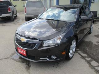 Used 2014 Chevrolet Cruze LOADED 2-LT - RS EDITION 5 PASSENGER 1.4L - TURBO.. LEATHER.. HEATED SEATS.. NAVIGATION.. SUNROOF.. BACK-UP CAMERA.. BLUETOOTH.. for sale in Bradford, ON