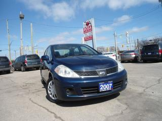 Used 2007 Nissan Versa AUTO NO ACCIDENT NO RUST PL PW PM A/C for sale in Oakville, ON