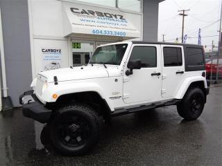 Used 2012 Jeep Wrangler Sahara 4 Dr, LIFT, New 33 Inch All Terrains for sale in Langley, BC