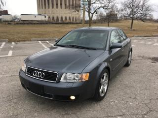 Used 2002 Audi A4 1.8t Quattro for sale in Toronto, ON