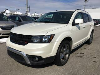 Used 2017 Dodge Journey CROSSROAD AWD *CUIR*TOIT*DVD*GPS*7 PASS* for sale in Brossard, QC