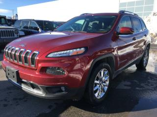 Used 2016 Jeep Cherokee LIMITED 4X4 *V6*CUIR*TOIT*GPS*PLAN OR 5/ for sale in Brossard, QC