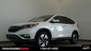 Used 2015 Honda CR-V Touring AWD GPS cuir bas kilométrage for sale in Trois-rivieres, QC