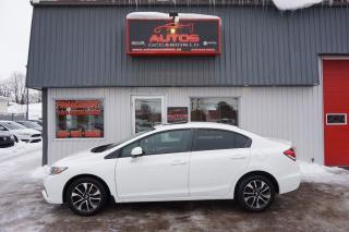 Used 2013 Honda Civic Ex Blanc 5 Vit for sale in Saint-romuald, QC
