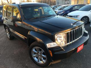 Used 2011 Jeep Liberty Limited Edition / AUTO / LEATHER / SUNROOF / 4WD for sale in Scarborough, ON