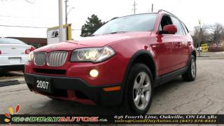 Used 2007 BMW X3 3.0Si|AWD|ALLOYS|LEATHER|BLUETOOTH|CERTIFIED for sale in Oakville, ON