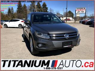 Used 2015 Volkswagen Tiguan Comfortline+4 Motion+Camera+Pano Roof+Leather+HID+ for sale in London, ON