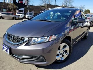 Used 2014 Honda Civic Sedan LX Great price and low Kms..!! CALL US NOW..!! for sale in Mississauga, ON