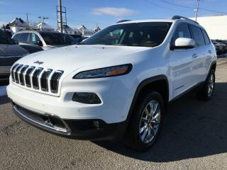 Used 2014 Jeep Cherokee LIMITED 4X4 *V6*CUIR*TOIT*GPS*HITCH*TECH for sale in Brossard, QC