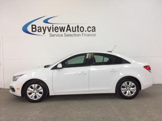 Used 2016 Chevrolet Cruze 1LT- TURBO|REM STRT|MY LINK|REV CAM|CRUISE|A/C! for sale in Belleville, ON