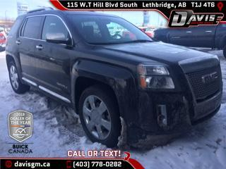 Used 2014 GMC Terrain Denali AWD, HEATED SEATS, NAVIGATION, SUNROOF for sale in Lethbridge, AB