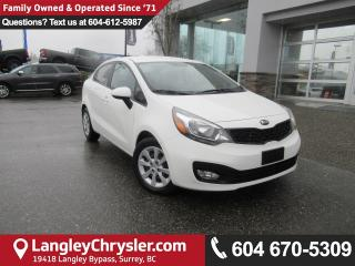 Used 2013 Kia Rio LX <B>*ACCIDENT FREE*AIR CONDITIONING*BLUETOOTH*<b> for sale in Surrey, BC