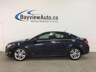Used 2014 Chevrolet Cruze RS- TURBO|REM STRT|ROOF|HTD LTHR|PIONEER|MY LINK! for sale in Belleville, ON