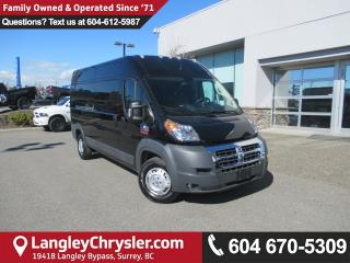 Used 2018 RAM 2500 ProMaster High Roof <B>*5.0 TOUCHSCREEN MEDIA*BLUETOOTH*<b> for sale in Surrey, BC
