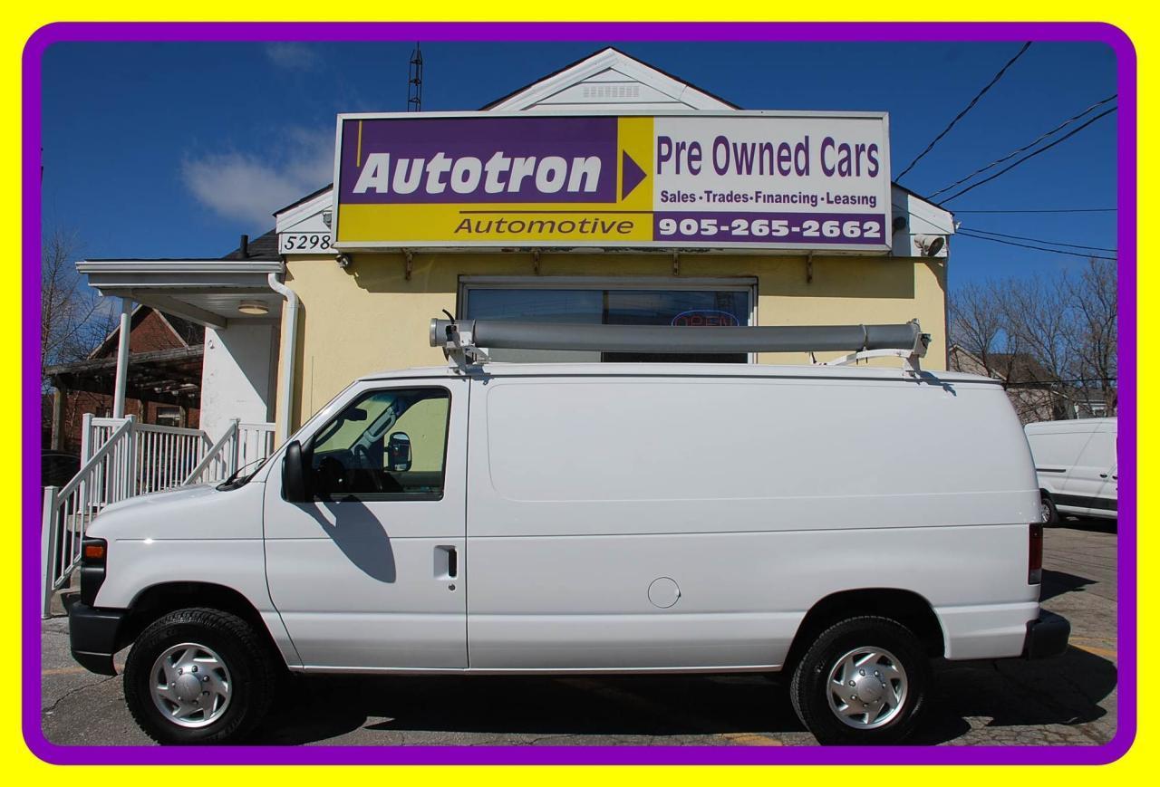 2012 Ford E350 1 Ton Econoline Cargo Van, A/C, Roof Rack