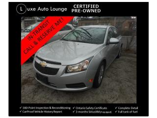 Used 2014 Chevrolet Cruze 1LT - ONLY 48K! AUTO, BLUETOOTH, XM RADIO, LOADED! for sale in Orleans, ON