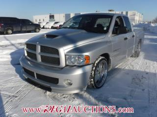 Used 2005 Dodge RAM 1500 SRT-10 QUAD CAB RWD 8.3L for sale in Calgary, AB