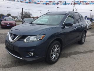 Used 2015 Nissan ROGUE AWD * LEATHER * REAR CAM * NAV * PANO SUNROOF * BLUETOOTH * SAT RADIO SYSTEM for sale in London, ON