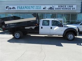 Used 2016 Ford F-550 Crew Cab 4x4 diesel with 11 ft steel dump box for sale in Richmond Hill, ON