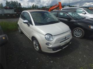 Used 2012 Fiat 500 C Lounge for sale in Saint-philibert, QC