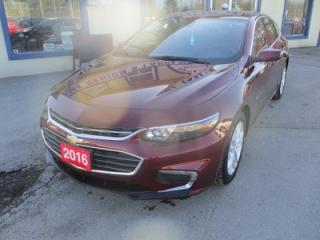 Used 2016 Chevrolet Malibu LOADED 1-LT EDITION 5 PASSENGER 1.5L - DOHC.. LEATHER.. HEATED SEATS.. FACTORY WARRANTY.. BACK-UP CAMERA.. BLUETOOTH SYSTEM.. for sale in Bradford, ON