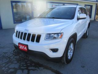 Used 2014 Jeep Grand Cherokee LOADED LAREDO EDITION 5 PASSENGER 3.6L - V6.. 4X4.. TOUCH SCREEN.. BLUETOOTH SYSTEM.. KEYLESS ENTRY & START.. for sale in Bradford, ON