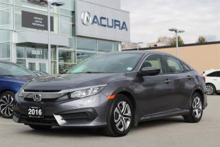 Used 2016 Honda Civic Sedan LX CVT for sale in Langley, BC