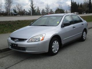 Used 2003 Honda Accord DX for sale in Surrey, BC