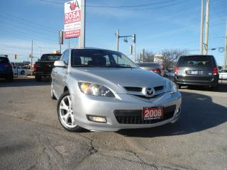 Used 2008 Mazda MAZDA3 AUTO SUNROOF HEATED SEAT CD CHANGER A/C PL PM PW for sale in Oakville, ON