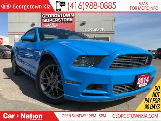 Used 2014 Ford Mustang PREMIUM| LEATHER| ALLOYS| HEATED SEATS| SPORT BLUE for sale in Georgetown, ON