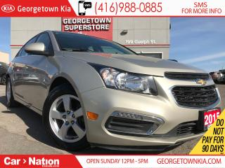 Used 2015 Chevrolet Cruze LT LEATHER| SUNROOF| BACK CAM| ALLOYS for sale in Georgetown, ON