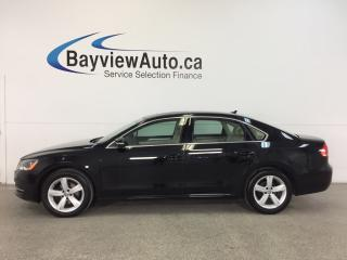 Used 2014 Volkswagen Passat COMFORTLINE- TURBO|ROOF|HTD LTHR|BLUETOOTH|CRUISE! for sale in Belleville, ON