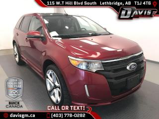 Used 2013 Ford Edge Sport LEATHER SEATS, SUNROOF, BACK UP CAMERA for sale in Lethbridge, AB