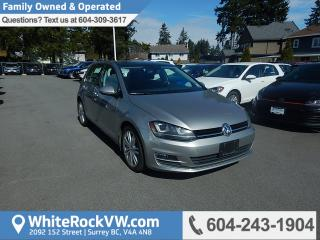 Used 2015 Volkswagen Golf 1.8 TSI Highline Power Moonroof, Leather Upholstery & Rear View Camera for sale in Surrey, BC
