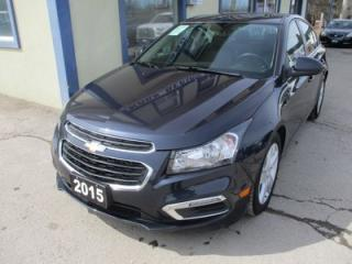 Used 2015 Chevrolet Cruze LOADED 2-LT MODEL 5 PASSENGER 2.0L - TURBO DIESEL.. LEATHER.. HEATED SEATS.. NAVIGATION.. SUNROOF.. BACK-UP CAMERA.. for sale in Bradford, ON