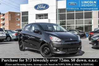 Used 2015 Mitsubishi Mirage ES for sale in Ottawa, ON