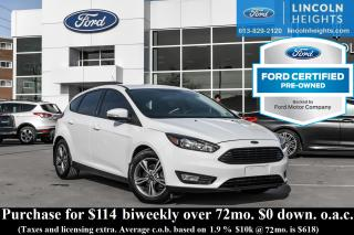 Used 2016 Ford Focus SE HATCH - BLUETOOTH - REVERSE CAMERA for sale in Ottawa, ON