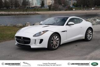 Used 2015 Jaguar F-Type Coupe at Certified Pre-Owned - Local Vehicle! for sale in Vancouver, BC