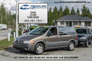 Used 2002 Pontiac Montana V6 Van, Low Km's, No Accidents, Local BC Car! for sale in Surrey, BC