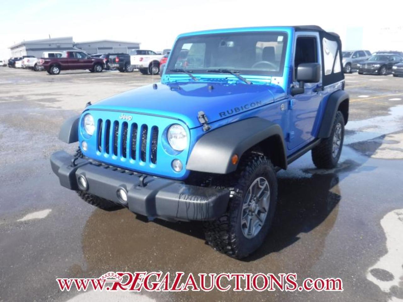 Photo of Blue 2015 Jeep WRANGLER RUBICON 2D UTILITY 4WD 3.6L