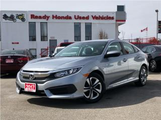Used 2017 Honda Civic Sedan LX  - Accident Free - Like New! for sale in Mississauga, ON