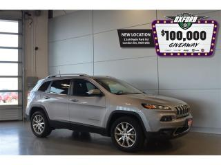 Used 2017 Jeep Cherokee Limited - 4x4, Back Up Cam, Parksense, Sunroof for sale in London, ON