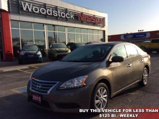 Used 2015 Nissan Sentra SV  - Bluetooth -  Heated Seats - $107.47 B/W for sale in Woodstock, ON