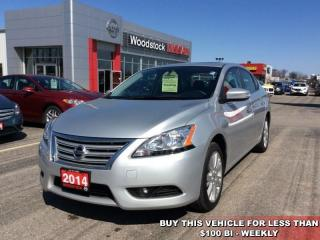 Used 2014 Nissan Sentra SL  - Sunroof -  Navigation - $97.69 B/W for sale in Woodstock, ON