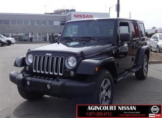 Used 2016 Jeep Wrangler Unlimited Sahara |Navigation|Bluetooth|Cruise Cont for sale in Scarborough, ON