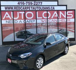 Used 2016 Toyota Corolla LE-ALL CREDIT ACCEPTED for sale in Scarborough, ON